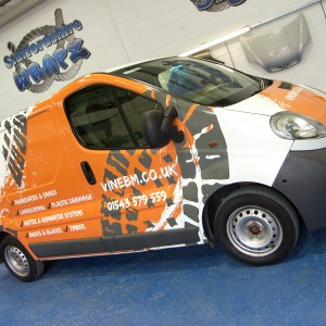 Vine Builder full colour digital vehicle wrap