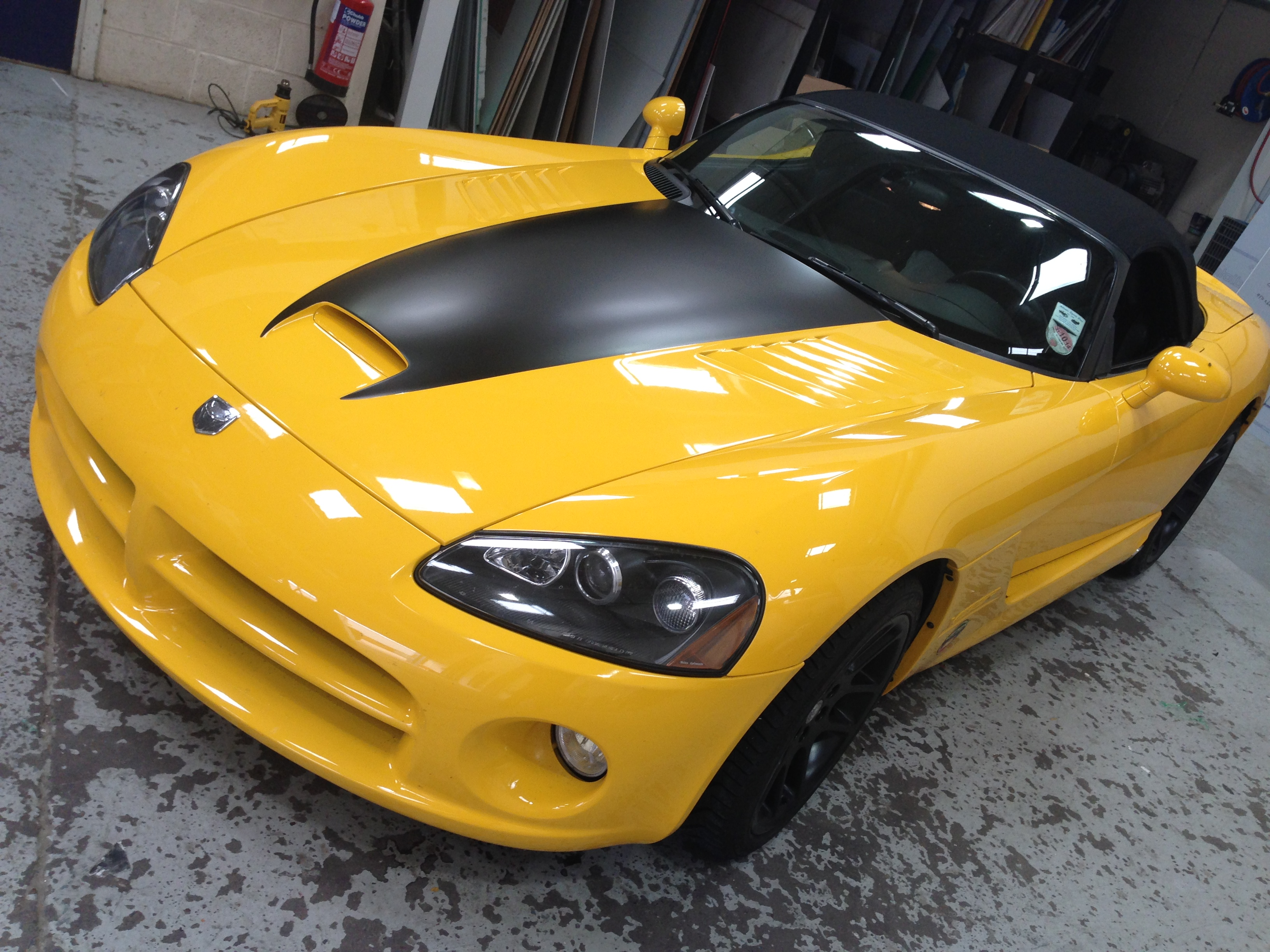 Yellow convertable