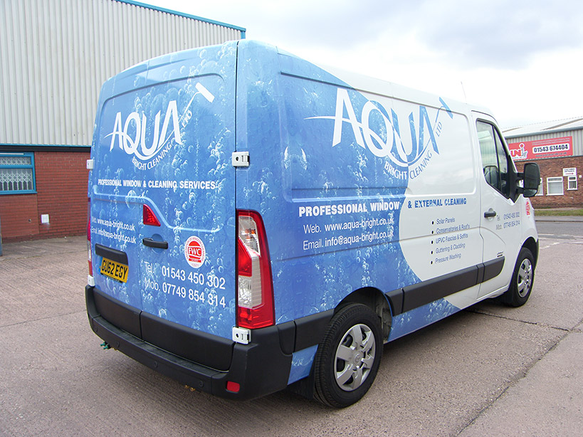 Full digital print onto a van