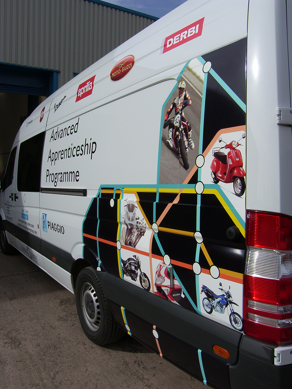Digital van wrap